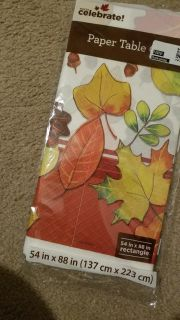 New fall paper table covers rectangle any design