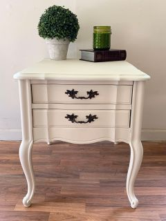 French Provincial End Table/Nightstand Set