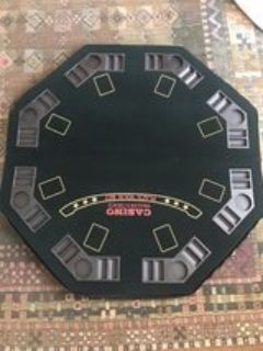 tabletop game table, card table topper, poker night