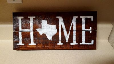Texas home decor Pallet Sign-Texas Decor Recycled wood sign