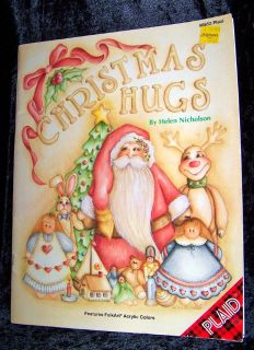 """DYI Ornaments! """"Christmas Hugs"""" Tole Painting Book, Vintage 1993, Nice!"""