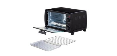 solid black colored toaster oven