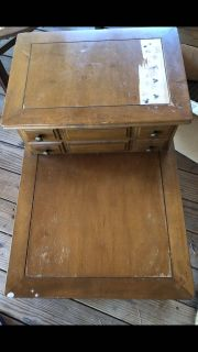 A fixer upper! Vintage telephone table