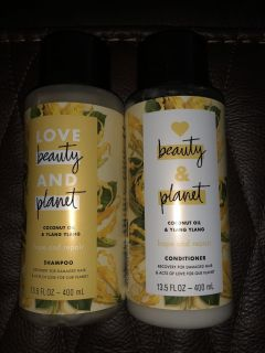 Love Beauty and Planet shampoo and conditioner for damaged hair retail $6.99 each