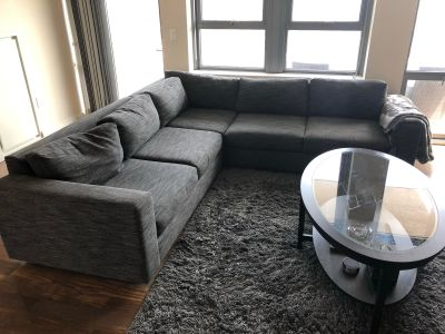 Very Clean West Elm Sectional Couch!