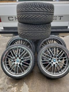 Staggered bmw rims