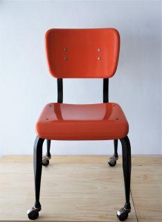 Vintage Fiberglass Desk Chair/ American Desk