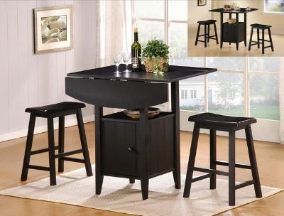 $199, Delightful 3PC Breakfast Or Pub Table   Space Saver