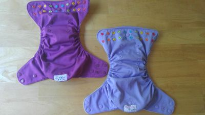 2 Purple Lalabye Baby Cloth Diapers