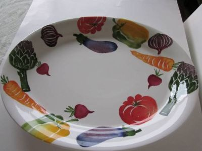 Crate and Barrel Platter and Bowl
