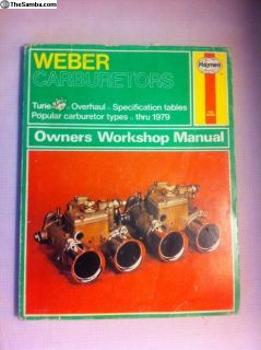 Weber Carburetor Owners Workshop Manual