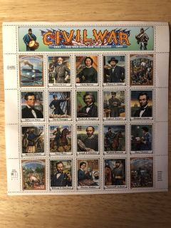 Civil War 32 Cent Stamps From 1994