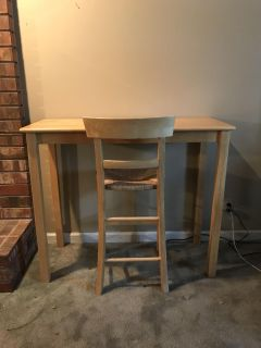 Bar height desk and chair