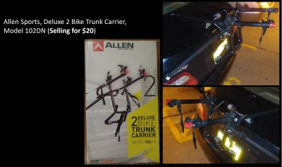 9. Allen Sports, Deluxe 2 Bike Trunk Carrier, Model 102DN