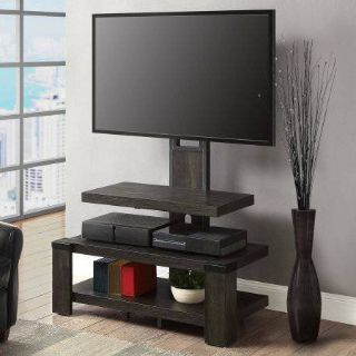 Whalen 3-Shelf Television Stand (Weathered Dark Pine) - NEW!