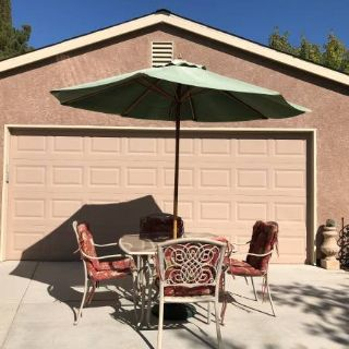 Patio Set with Umbrella and Stand