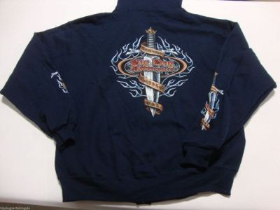 Sell BIG DOG MOTORCYCLES BLUE DAGGER ZIP SWEATSHIRT W/ SLEEVE-FRONT-BACK DESIGN motorcycle in Lyons, Kansas, United States, for US $29.99