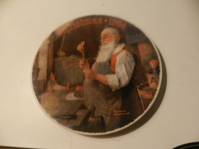 Norman Rockwell 1984 Christmas Plate