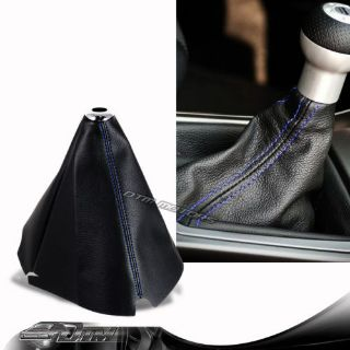 Find JDM Blue Stitch Black PVC Leather Shifter Shift Gear Knob Boot Cover For HONDA motorcycle in Rowland Heights, California, United States