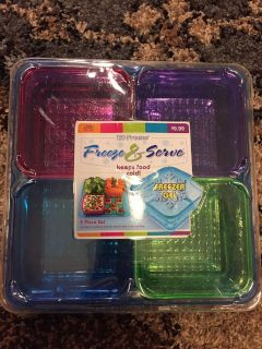Freeze and serve tray new.