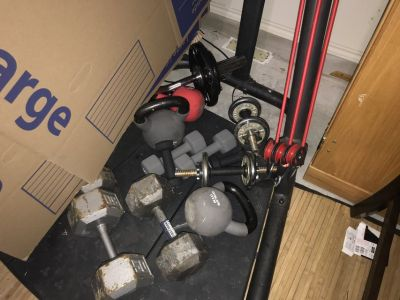 Smith system and dumbbells and weights