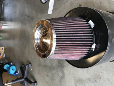 K&N air filter, used