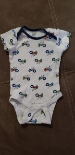 Cute Motorcycle Onesie Size 3-6 Months. Excellent Condition