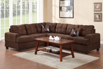 2PC Chocolate Sectional FREE DELIVERY