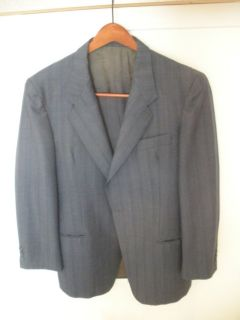 38 - 40R Lanerossi wool dark blue/green teal sport coat blazer italy 48