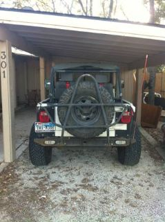 Jeep Wrangler Custom Rear Bumper and Tire Carrier