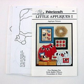 PIG APPLE COW SHEEP WATERMELON Country Applique Patterns