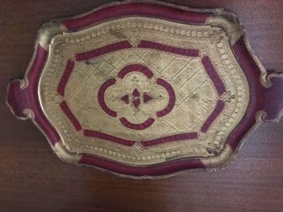 Italian Vintage tray. Made in Italy. Hand painted.