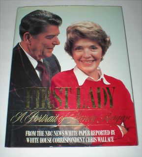 Nancy Reagan First Lady Book - 1986, Hardcover - 1st Edition