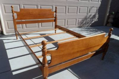 Solid Maple Wood Bed Frame
