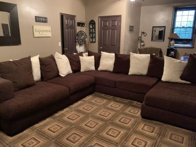 Sectional sofa and swivel circle chair