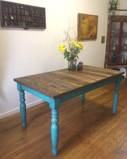 Handmade Dining Table, Reclaimed Wood Work Table