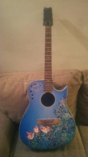 Hand Painted DECORATIVE Guitar
