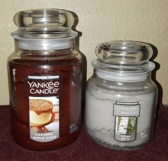 $15 Firm for Both Yankee Candles Brandnew & Large one was lit for about 20 mins did not like scent