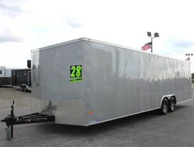 2018 USED (1 Month) 28' Enclosed Trailer 112' Etrack