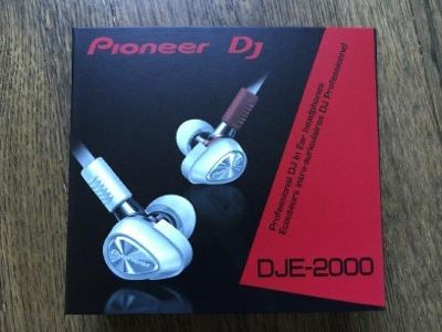 Pioneer DJE-2000 earphones, white
