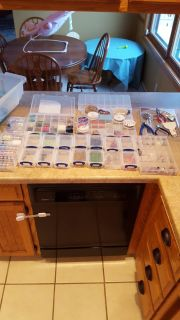 Jewelry making supplies- beads, tools, wire! see additional pics