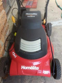 Electronic battery powered lawn mow. As is.