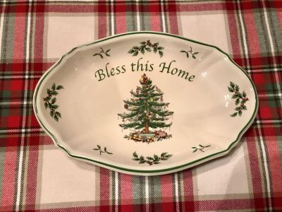 Spode Bless this Home tray - new condition with price sticker still .on