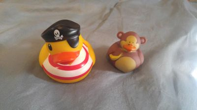 Pirate and monkey rubber duckies