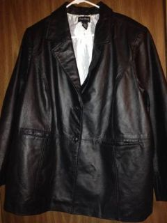 Size 1820 womens leather jacket