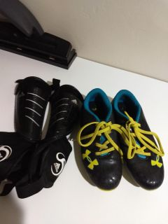 Adidas Shin Guards & Under Armour Soccer Cleats