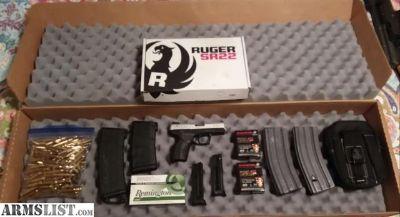 For Sale: RUGER SR22 PLUS EXTRAS