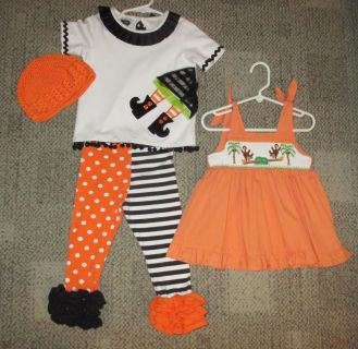 Girl's 2T October Namebrand Outfits & New Halloween Pic Frame