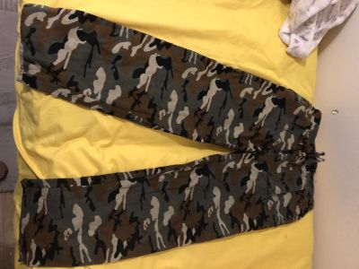 Flannel house pants camouflage