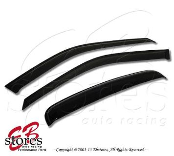 Sell Front Vent Outside Mount Window Visor Sunroof 3pc Dodge Ram 3500 09-12 Crew Cab motorcycle in La Puente, California, US, for US $36.95